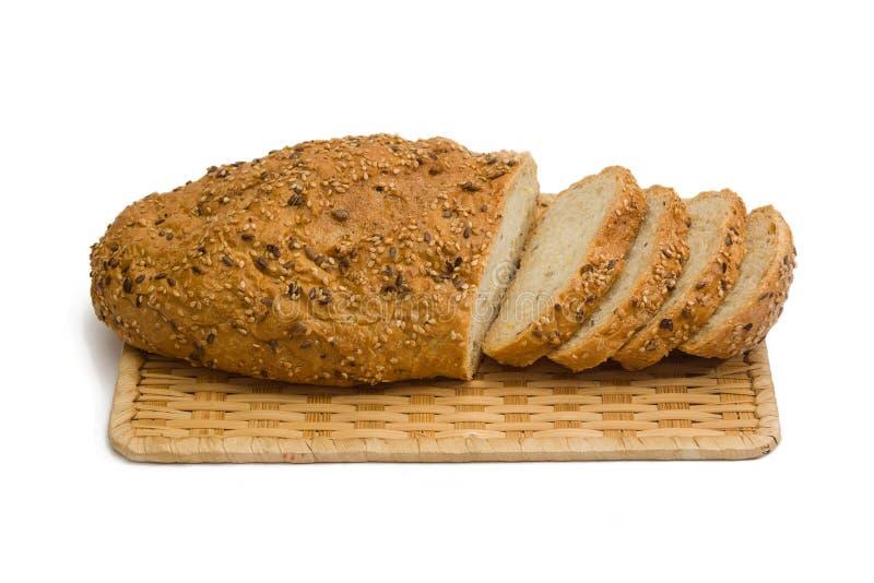 bröd isolerad skivad white arkivfoto