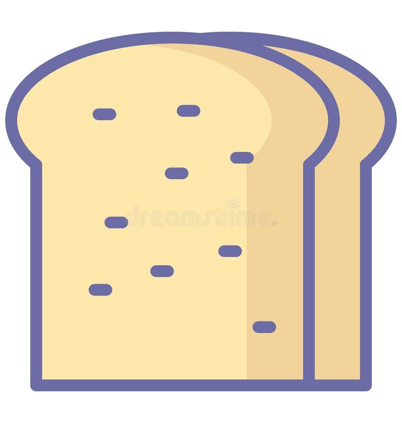 Bröd isolerad vektorsymbol som kan lätt ändra eller redigera den bröd isolerade vektorsymbolen, som kan lätt ändra eller re royaltyfri illustrationer