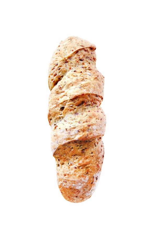 Bröd med isolerade löken, paprika, spiskummin och dill royaltyfria foton