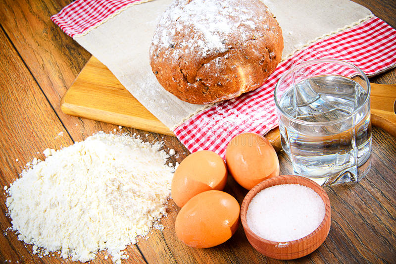 baka bröd med ägg