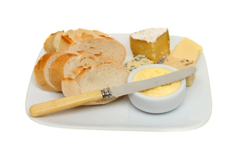 Bröd och ost royaltyfria bilder