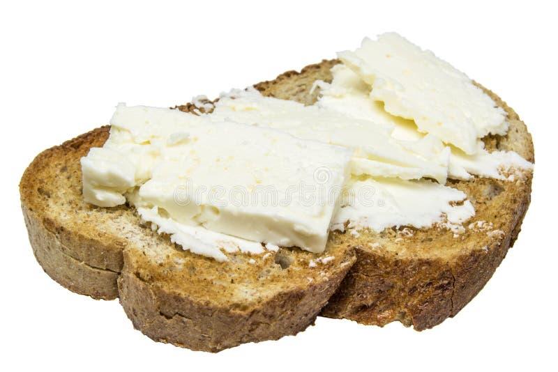 Bröd och ost fotografering för bildbyråer