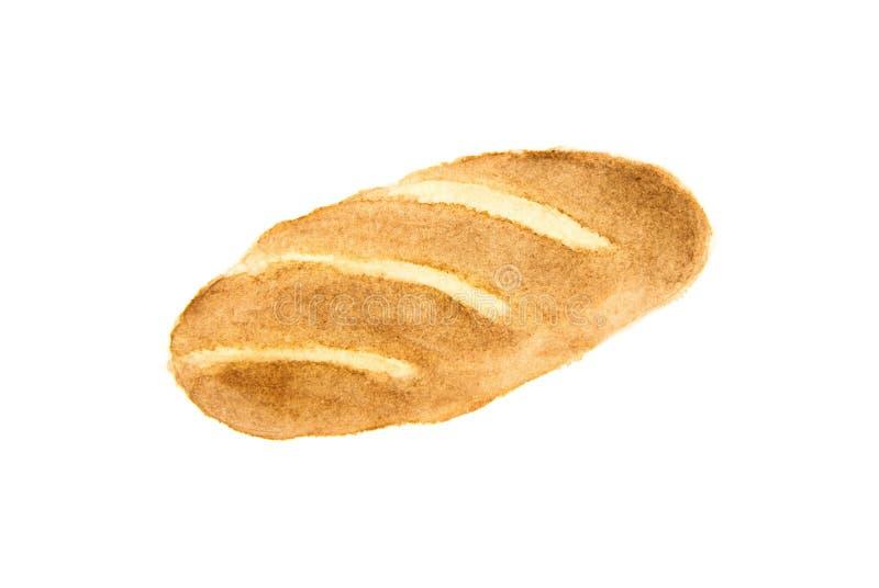 Bröd på en vitbakgrund fotografering för bildbyråer