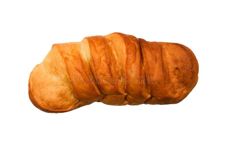 Bröd på vit bakgrund En traditionell matvara till frukost, lunch och middag fotografering för bildbyråer