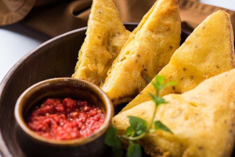 Bröd Pakora eller bröd Pakoda eller bhaji royaltyfri fotografi