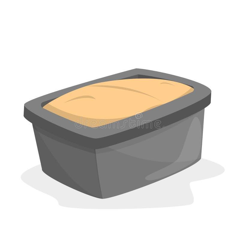 Bröd släntrar pannan mycket av deg Laga mat bröd royaltyfri illustrationer
