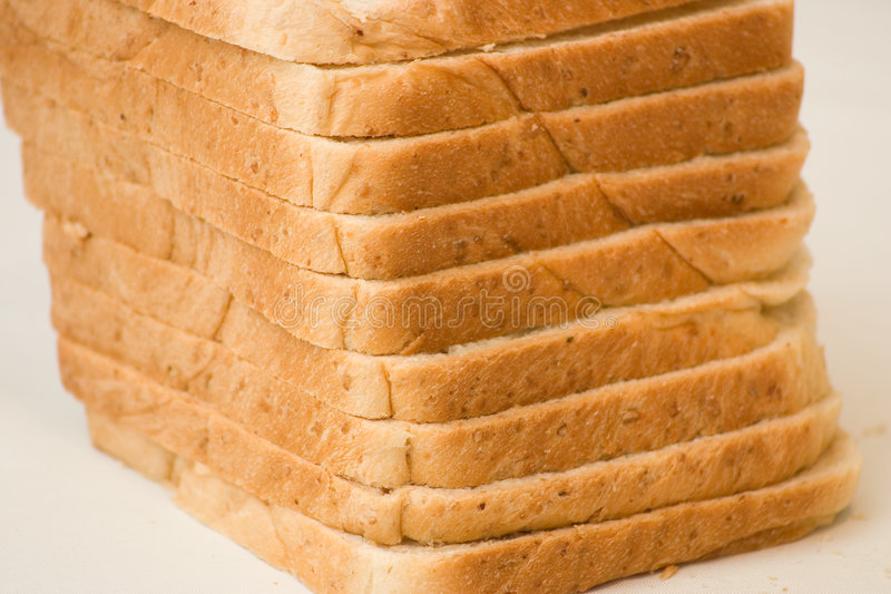 bröd släntrar skivat royaltyfri fotografi