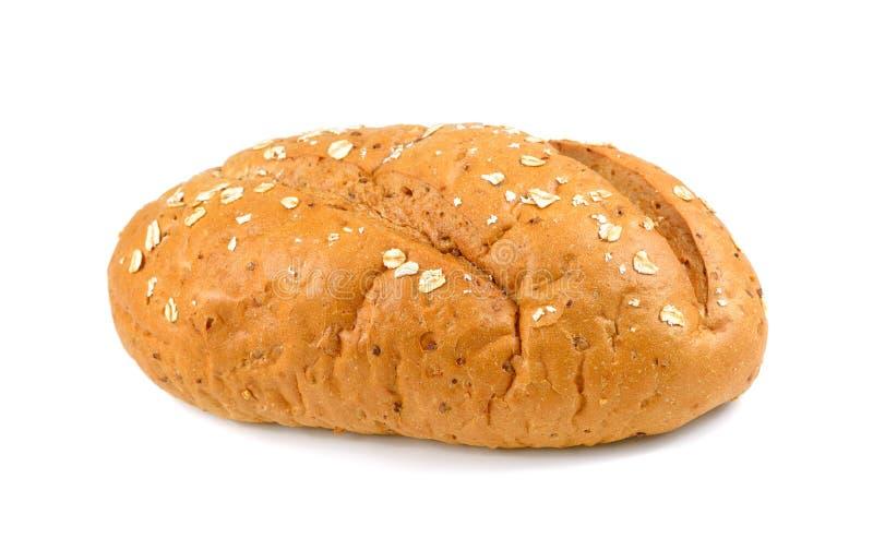 Bröd som isoleras på vit, traditionellt hemlagat fransmanrundabröd royaltyfria bilder