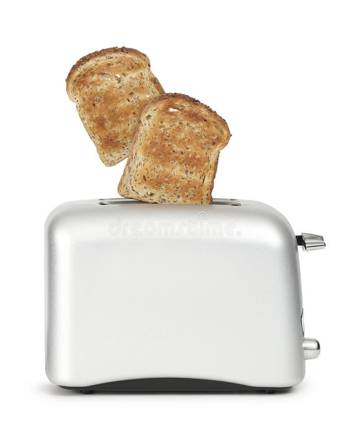 bröd som POP ut toasteren royaltyfria bilder