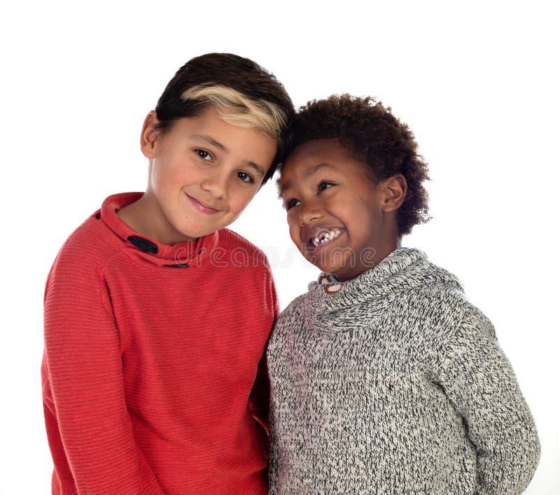 bröder lyckliga två fotografering för bildbyråer