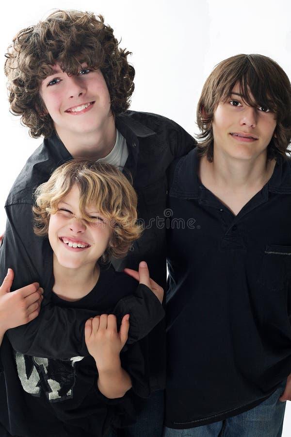 bröder tre royaltyfri foto