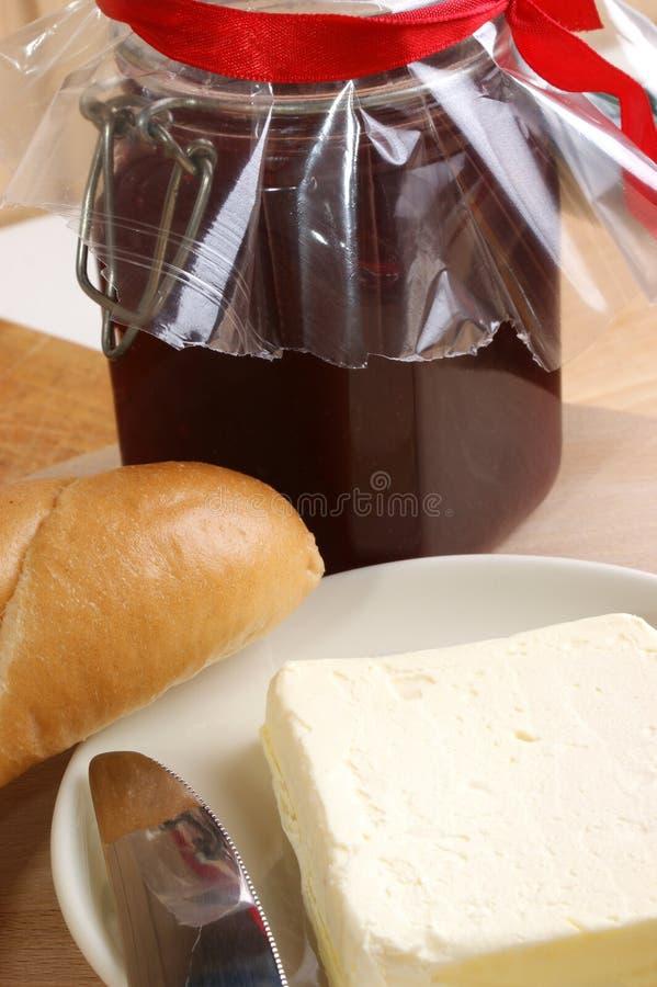 brödfrukostrulle royaltyfri fotografi