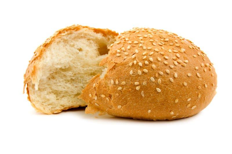 brödhälfter isolerade vete två arkivfoton