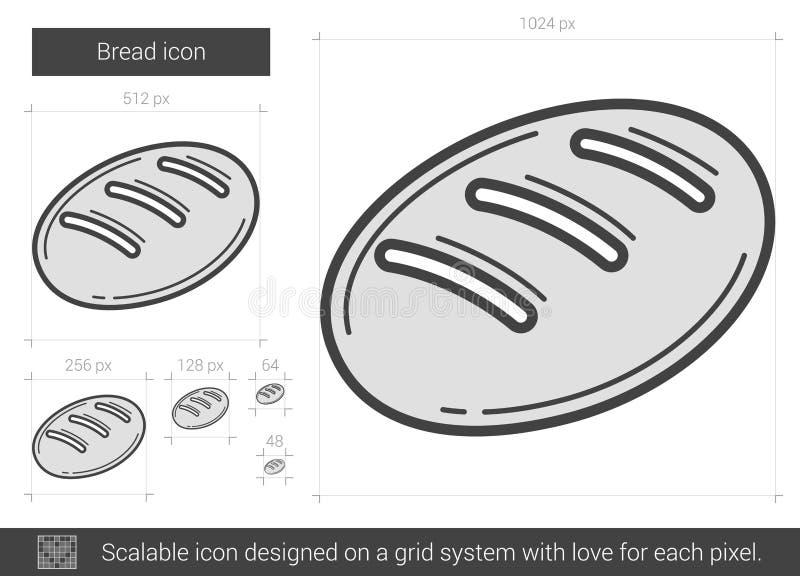 Brödlinje symbol stock illustrationer