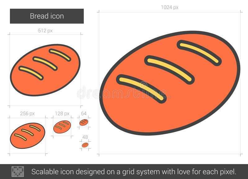 Brödlinje symbol vektor illustrationer