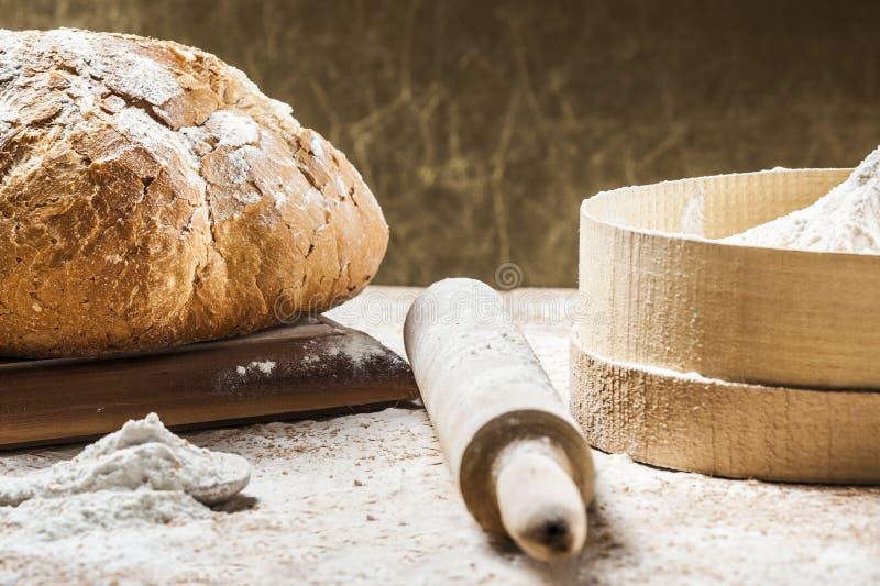 brödmatlagning arkivbilder