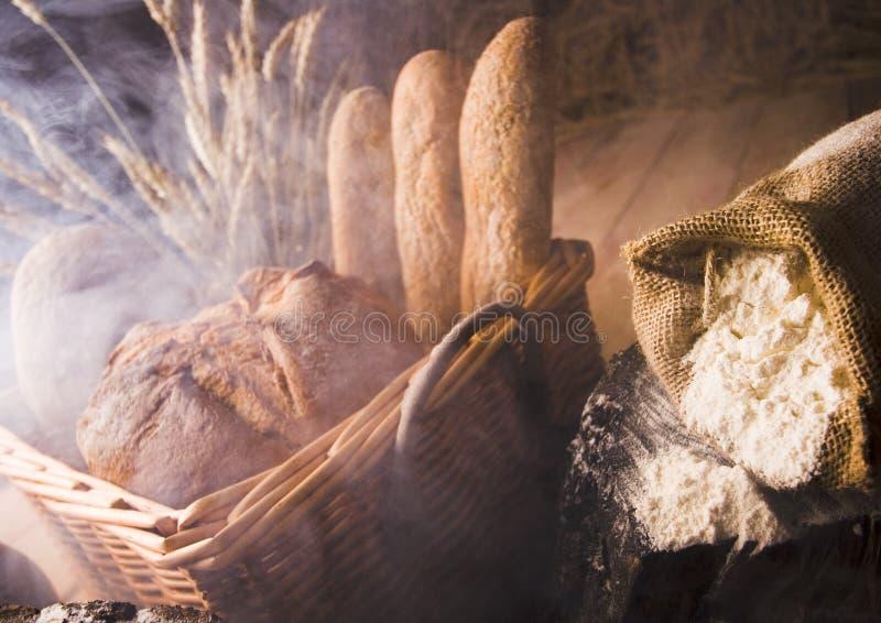 brödmixrök arkivfoton