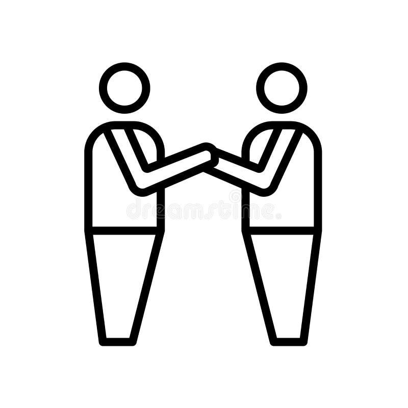brödraskapsymbol som isoleras på vit bakgrund stock illustrationer