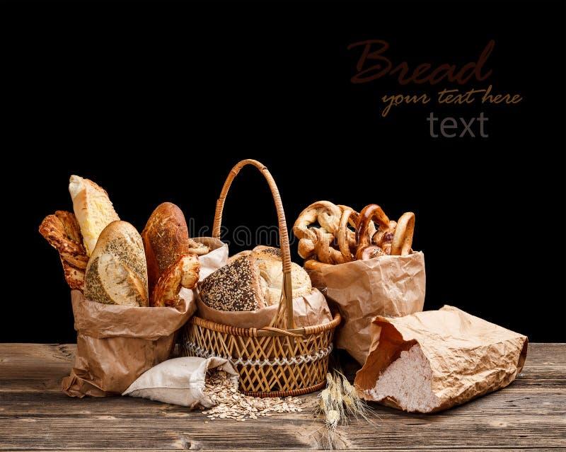 Brödstilleben arkivfoto