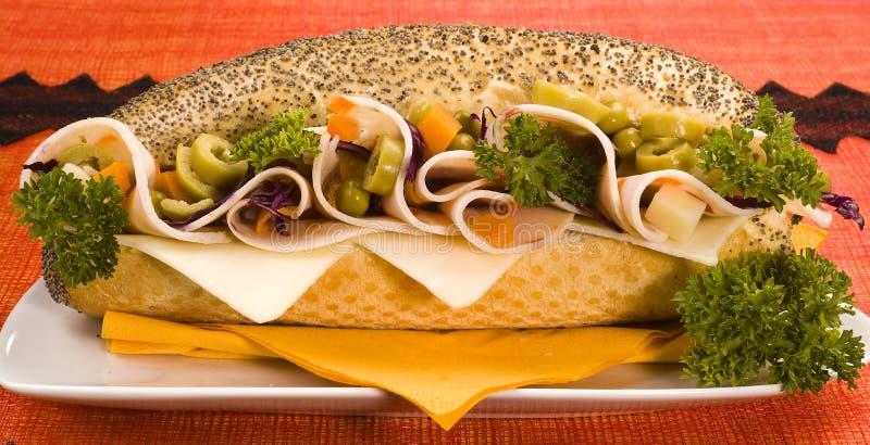brödvallmosmörgåsen kärnar ur royaltyfria foton