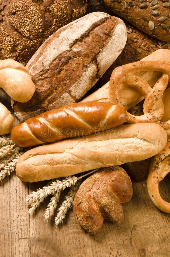 brödvariation royaltyfria foton