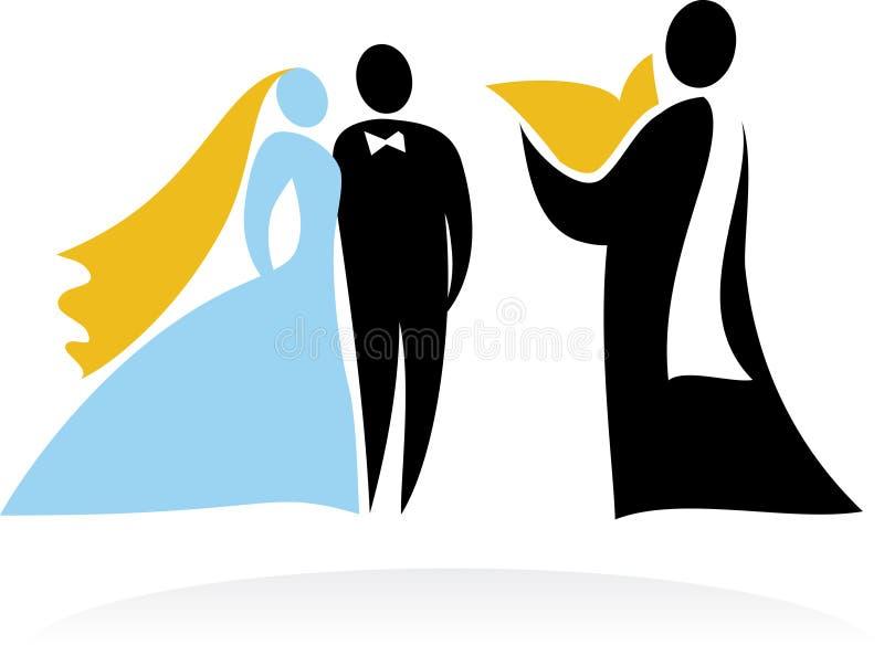 Bröllopögonblick - 3 stock illustrationer