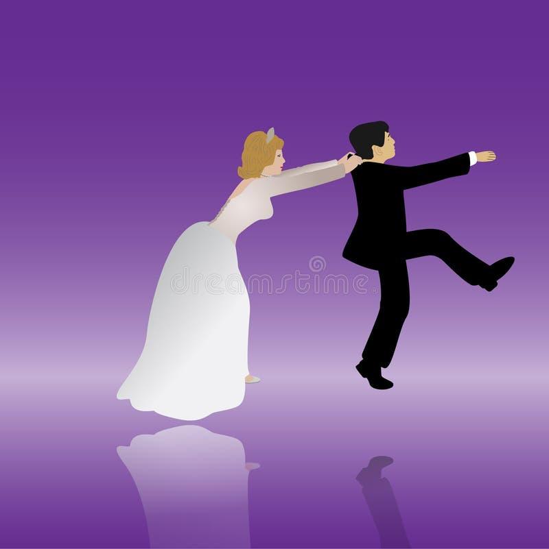 bröllop royaltyfri illustrationer
