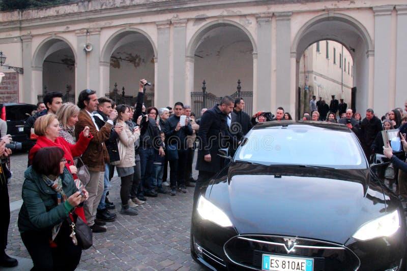 Bröllop Andrea Bocelli och Veronica Berti royaltyfri bild