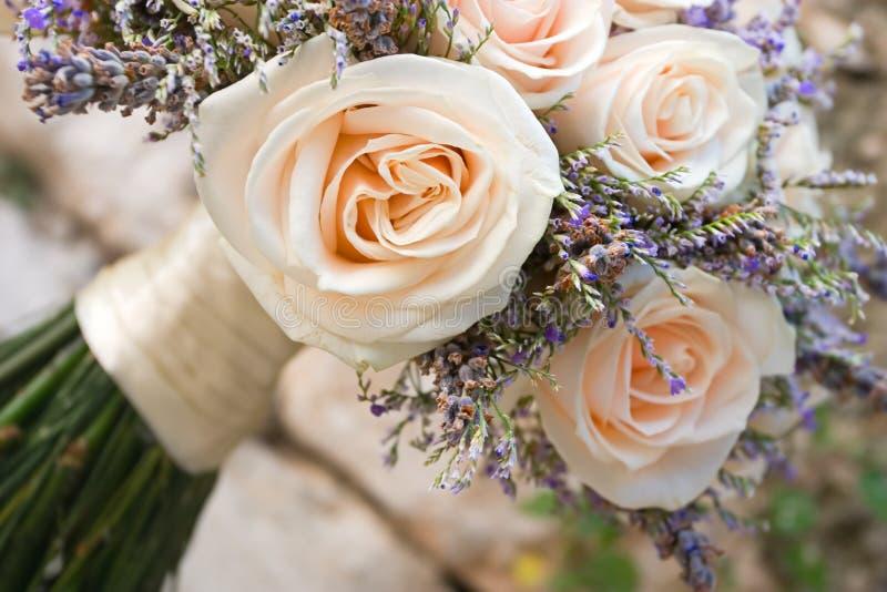 bröllop för 6 bukett arkivbilder