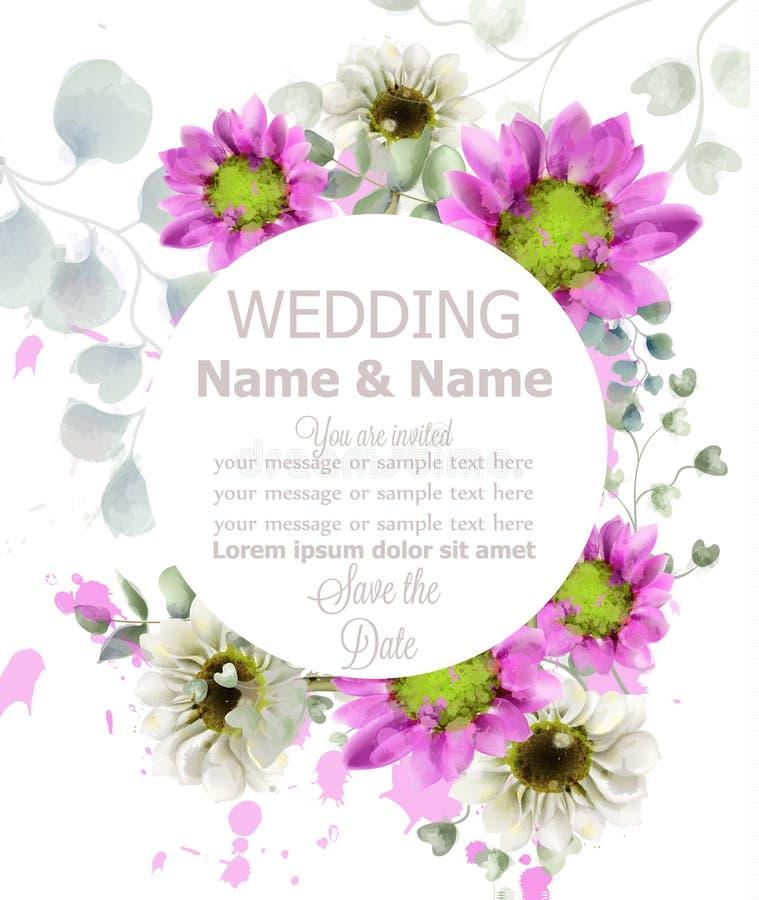 bröllop för abstraktionkortillustration  stock illustrationer