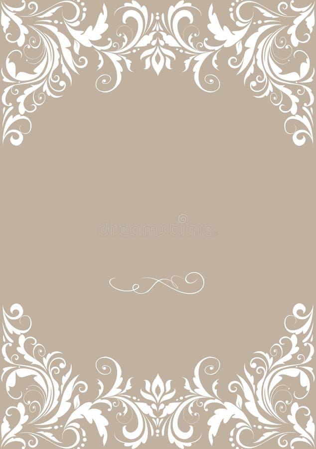 bröllop för abstraktionkortillustration vektor illustrationer
