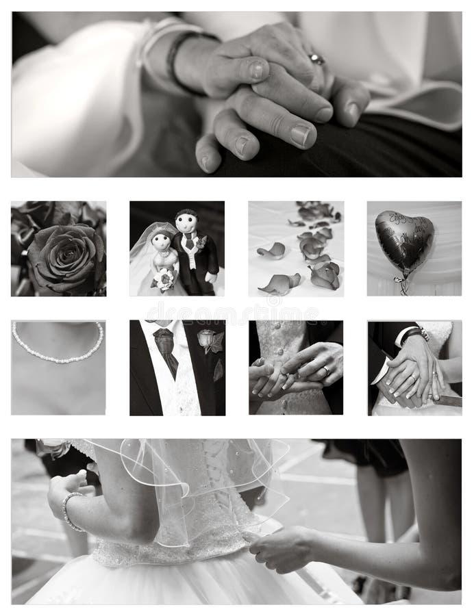 bröllop för bakgrundscollagesamling arkivfoton