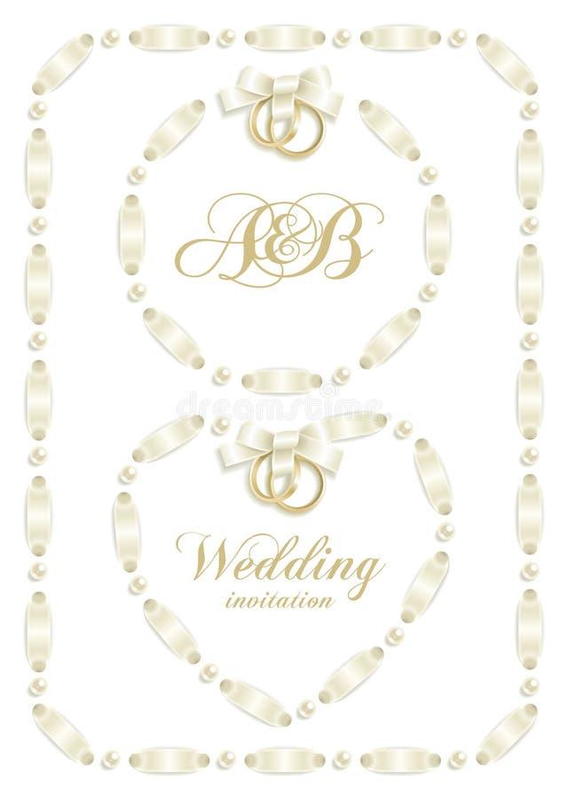 bröllop för band för 2 ram set stock illustrationer