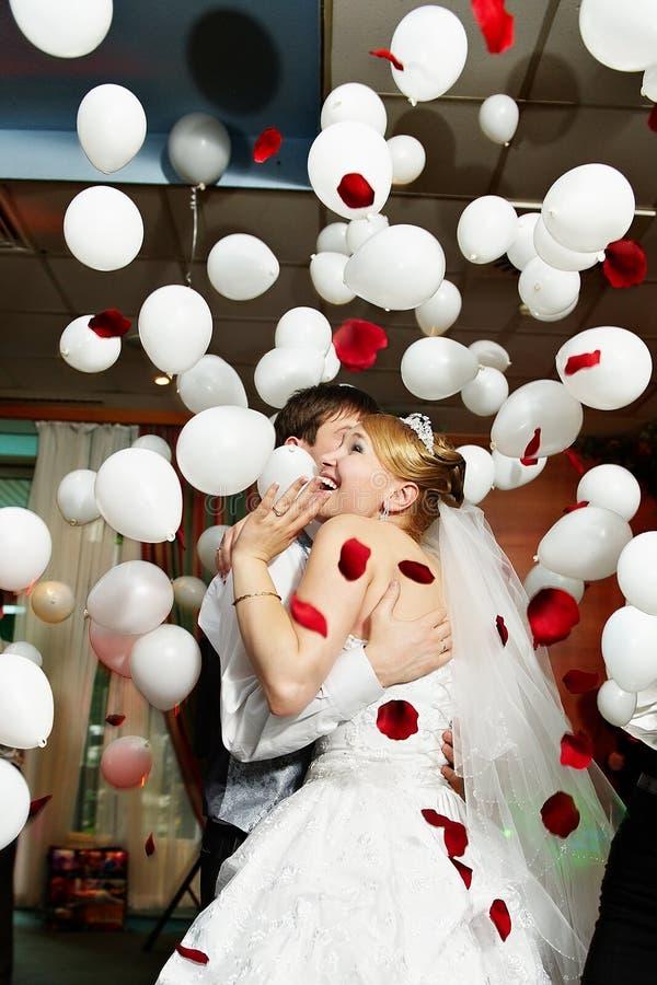 bröllop för brudberömbrudgum arkivbild