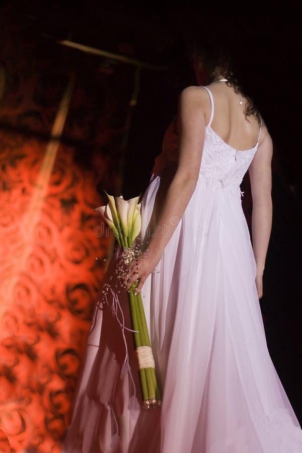 bröllop för dagdetaljklänning royaltyfri foto