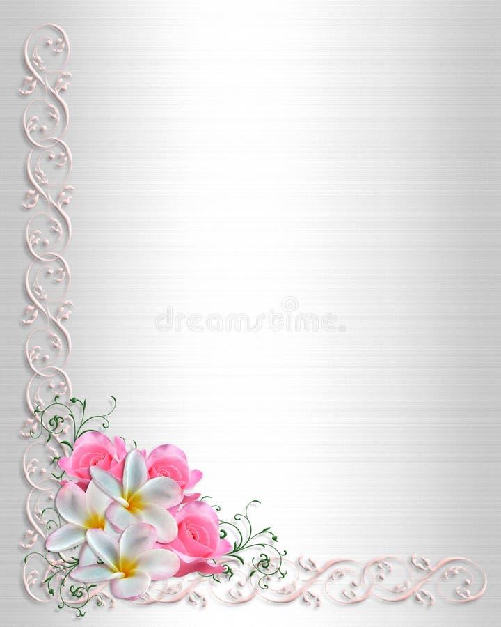 bröllop för inbjudan för bakgrundskant blom- stock illustrationer
