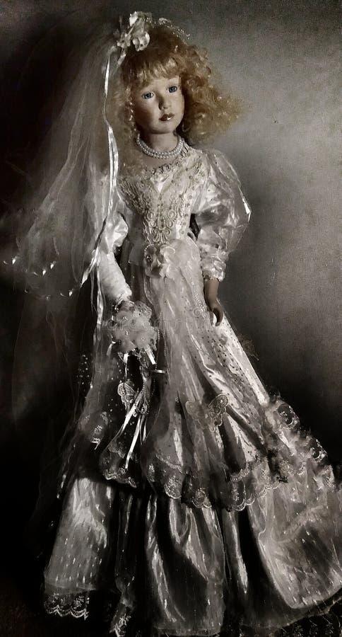 bröllop för klänningfragmentbeställning royaltyfria bilder