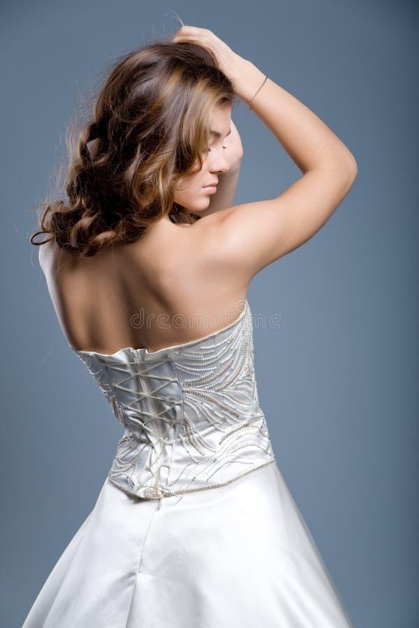 bröllop för klänningmodemodell royaltyfria foton