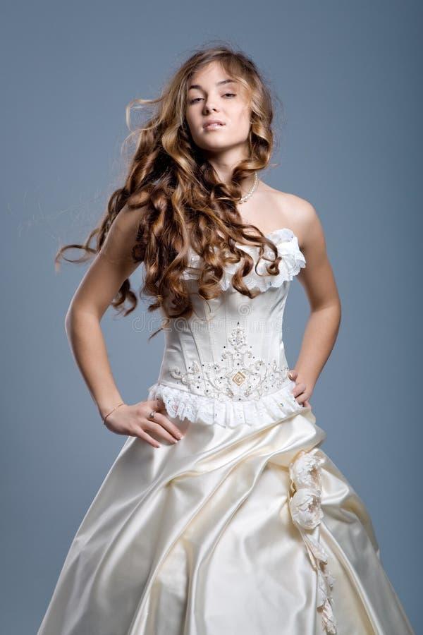 bröllop för klänningmodemodell royaltyfri fotografi