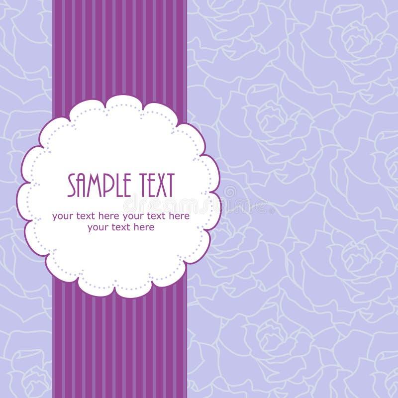 bröllop för ram för kortdesign greeting purpurt royaltyfri illustrationer