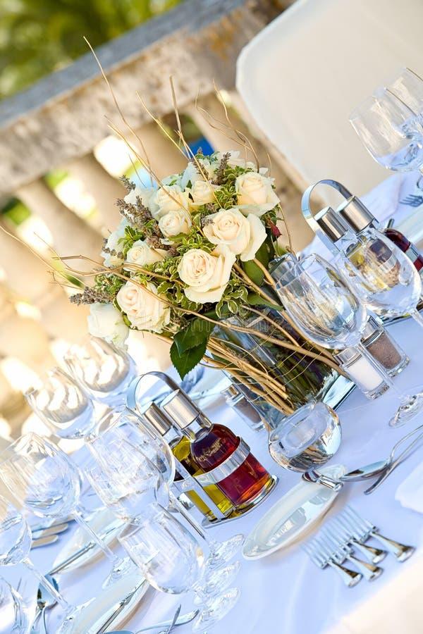 bröllop för tabell setting2 arkivbilder