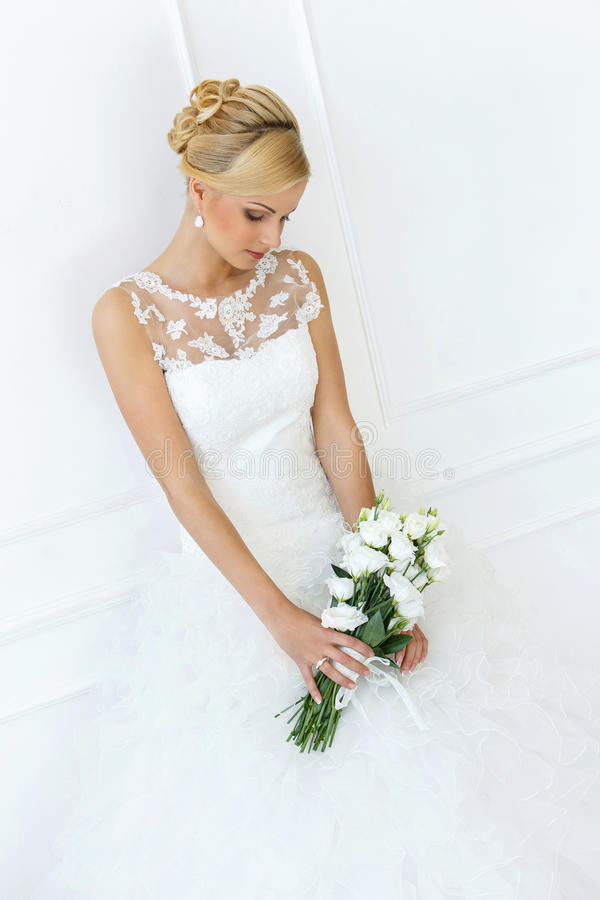 bröllop härlig brud fotografering för bildbyråer