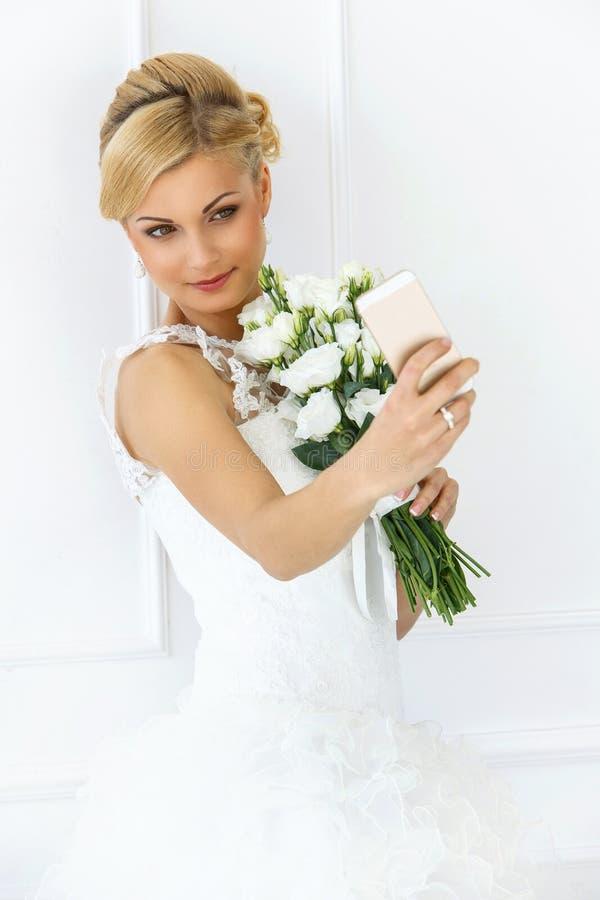 bröllop härlig brud arkivbild