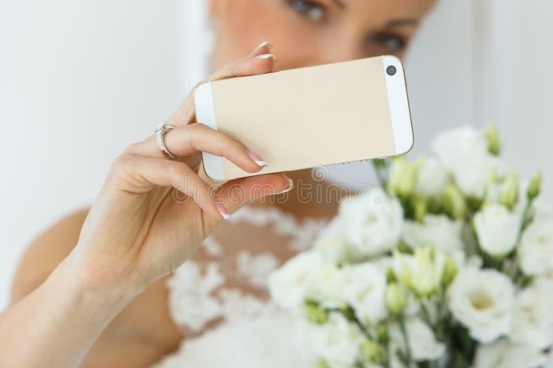 bröllop härlig brud arkivfoton