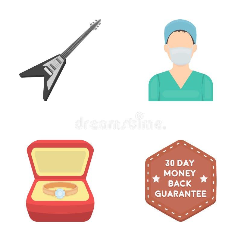 Bröllop, medicin, affären och annan rengöringsduksymbol i tecknad film utformar logo information, konsert, symboler i uppsättning vektor illustrationer