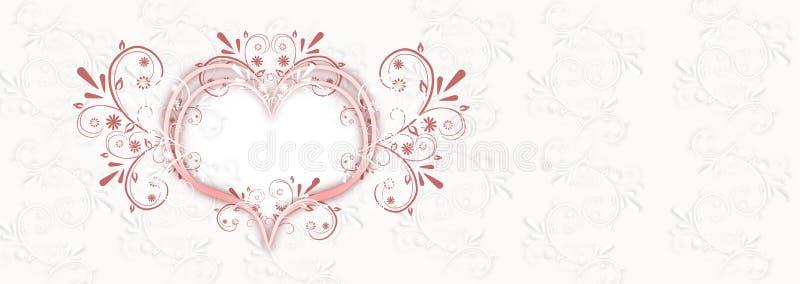 Bröllopbakgrundsbaner vektor illustrationer