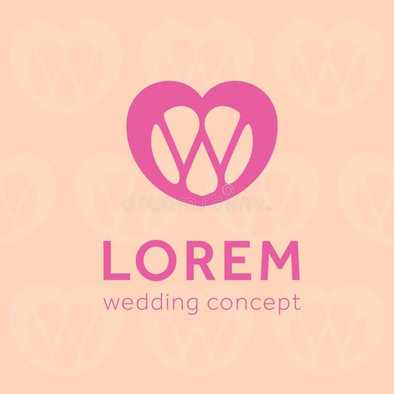 Bröllopbegreppssymbol på sömlös bakgrund royaltyfri illustrationer