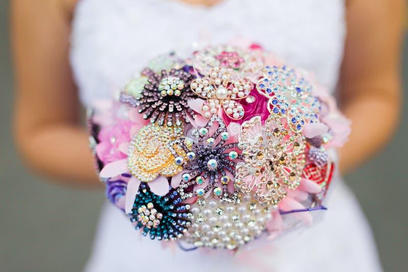 Bröllopbukett av bruden royaltyfri foto