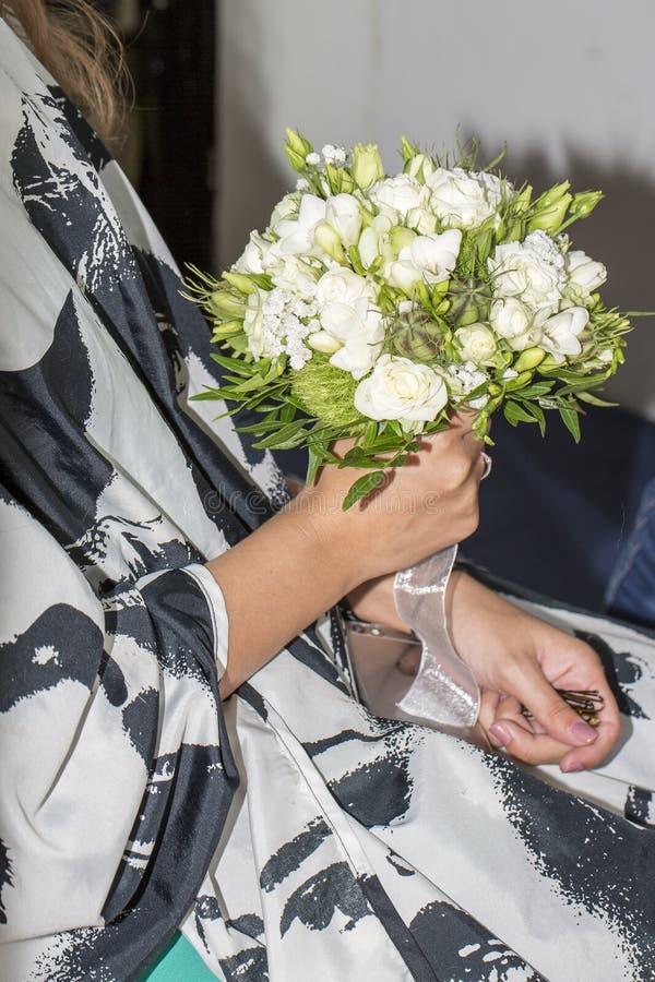 Bröllopbukettblommor royaltyfria bilder