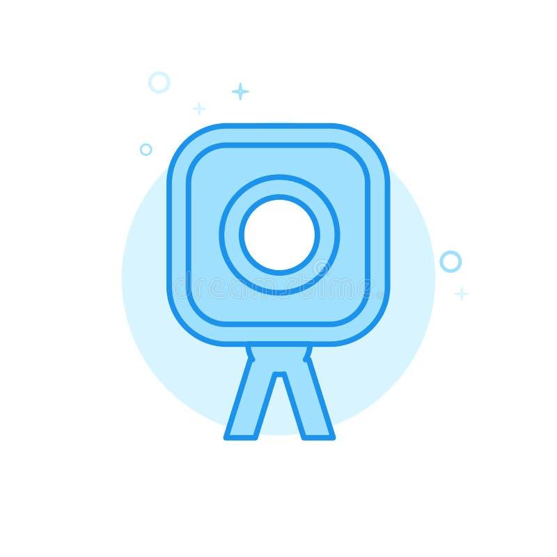 Bröllopfotograf Flat Vector Icon, symbol, Pictogram, tecken Ljust - blå monokrom design Redigerbar slaglängd vektor illustrationer